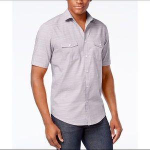 Alfani Men's Short Sleeve Collared Button Up Shirt
